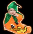 HALLOWEEN FANCY DRESS # BABY PUMPKIN 6-12 MONTHS
